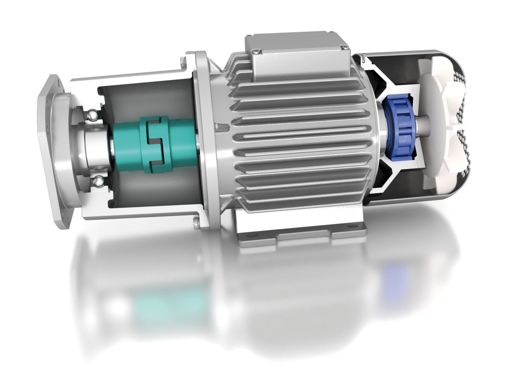 use of FXM integrated freewheel in a gear motor